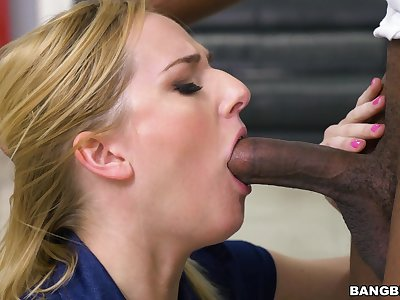 Hardcore interracial anal sex with playful blondie Kate England