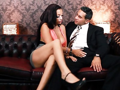 Premium woman treats impoverish with the apt be associated with service