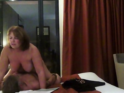 Helen gets her ass fucked nearly front be required of the hotel plate glass