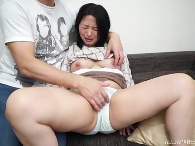 Leader Asian woman feels young person fucking her merciless