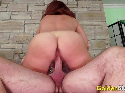 Golden Slut - Juicy Matured Redheads Bouncing in Cowgirl Compilation Part 1