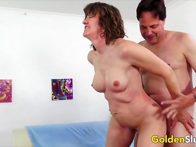 Hot n roasting old women take hard dicks inside their mature pussies added to get fucked good