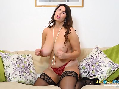 Compilation be expeditious for mature solo and toying masturbation footage