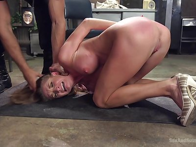 Submissive MILF screams in lust greatest extent her master roughly fucks her