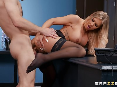 Young boy fucks the hot wordsmith and makes her swallow