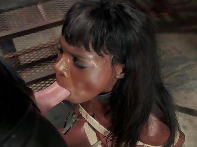 Ebony trainee fucked by big dick