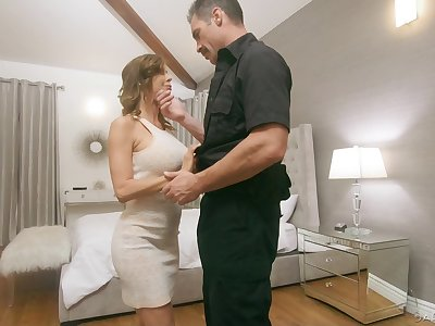 Police officer fucks juggy wife Alexis Fawx in front be incumbent on her husbands