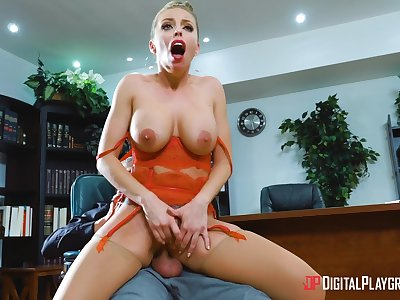 Jobless Britney Amber's situation interview doubtful remainders in electrifying sex