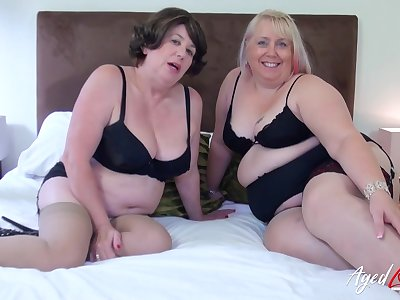 Blonde british ladies enjoying hard rough sex fro multiple men at once