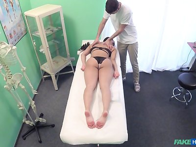 Doctor gets his dick deep inside of alluring Asian Sharon Lee