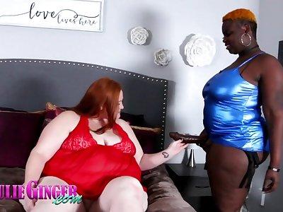 Julie Ginger & Marley Moore - BBW lesbians porn