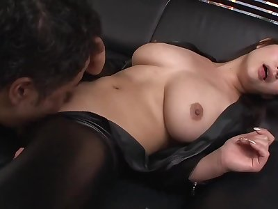 Big tits japanese MILF in lie doggo cloth hardcore