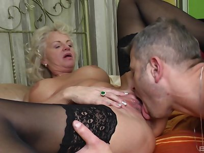 Granny goes full mode when it comes up young dicks