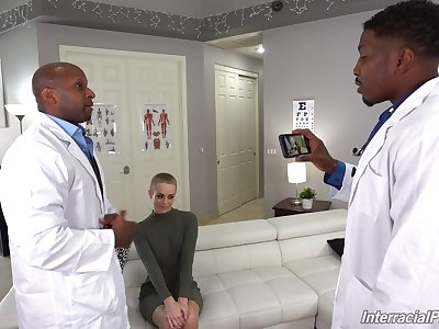 Black doctors ass lose one's heart to charming blonde after repartee her well enough