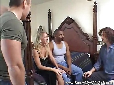 Pretty good MILF Swinger Rough Anal Tryout