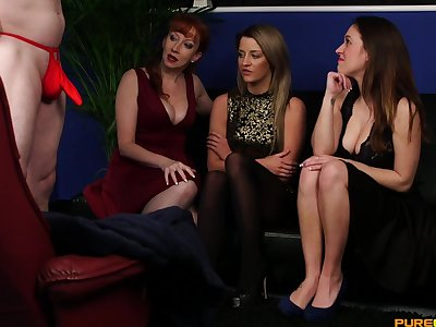 CFNM video with slutty models Samantha Page and Sienna Day