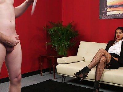 Baffle indulges his small dick humiliation fantasy with Tulisa James